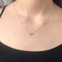 Load image into Gallery viewer, 14K Gold Diamond Hummingbird Necklace