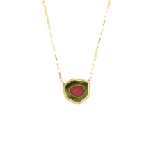 Load image into Gallery viewer, 14K Gold Watermelon Tourmaline Necklace