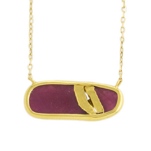 22K Golden Joinery Ruby & Diamond Necklace