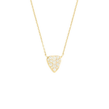 Load image into Gallery viewer, 14K Gold Shield Diamond Pave Necklace