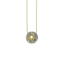 Load image into Gallery viewer, Oxidized Sterling & 18K Gold Urchin Necklace