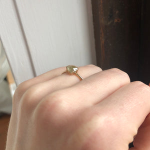1.07 ct Teardrop Rustic Diamond Ring