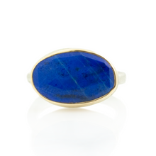 Load image into Gallery viewer, Sterling & 14K Gold Lapis Ring