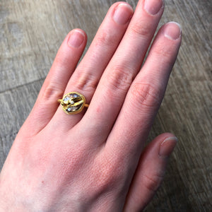 22K Golden Joinery 2.18 ct Rough Diamond Ring