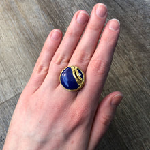Load image into Gallery viewer, 22K Golden Joinery Lapis Ring