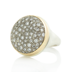 Sterling & 14K Gold 1.68 TCW White Diamond Pave Ring