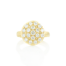 Load image into Gallery viewer, 14K Gold Large Round Diamond Pave Cluster Ring