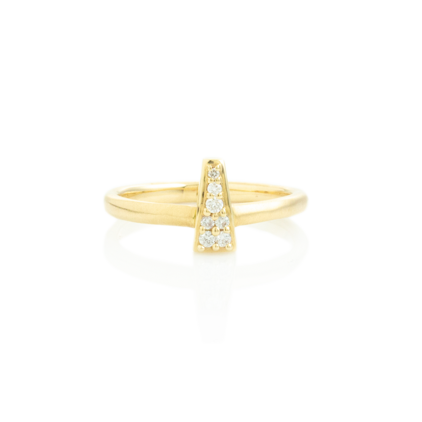 14K Gold Tapered Baguette Diamond Pave Cluster Ring