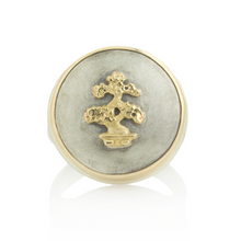 Load image into Gallery viewer, Sterling and 14K Gold Small Bonsai Tree Ring