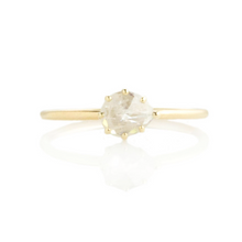 Load image into Gallery viewer, 0.52 ct Teardrop Rustic Diamond Ring