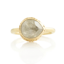 Load image into Gallery viewer, 3.46 ct Teardrop Rustic Diamond Ring