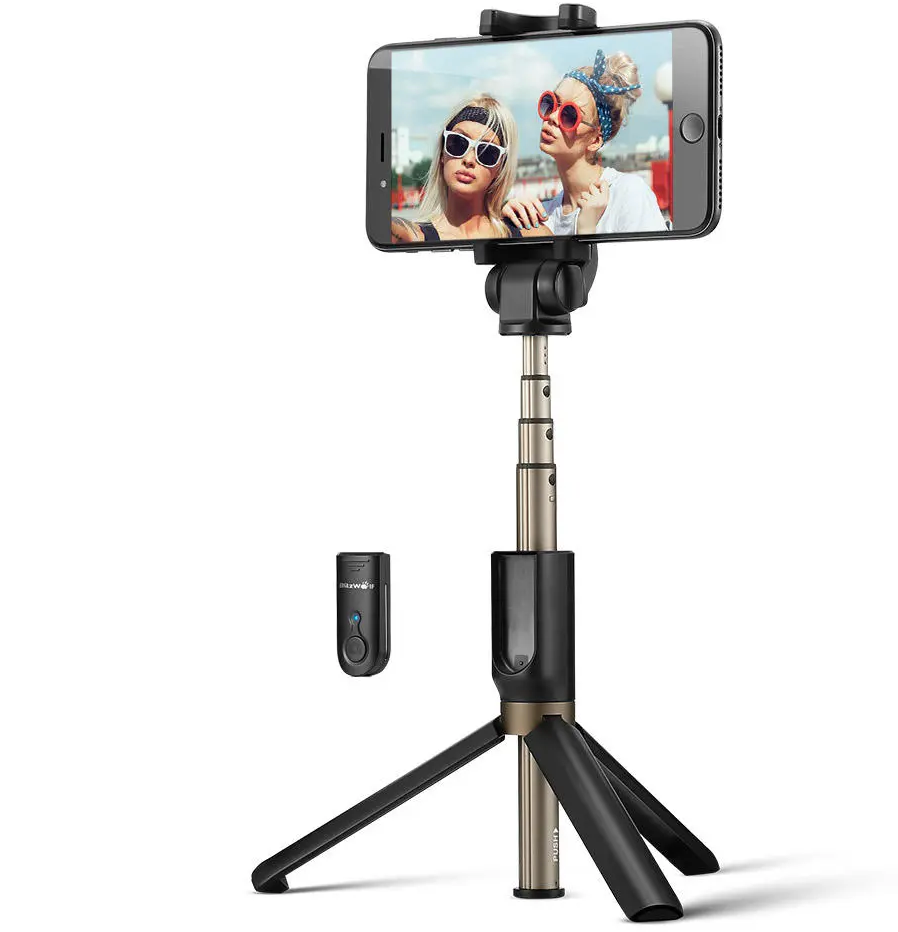 BlitzWolf Extendable Selfie Stick Tripod with Wireless Remote for iPhone X//iPhone 8//8 Plus//iPhone 7//7 Plus//iPhone 6 Plus Galaxy S9//S9 Plus//S8//S8 Plus//S7//Note 8 More Huawei Selfie Stick bluetooth