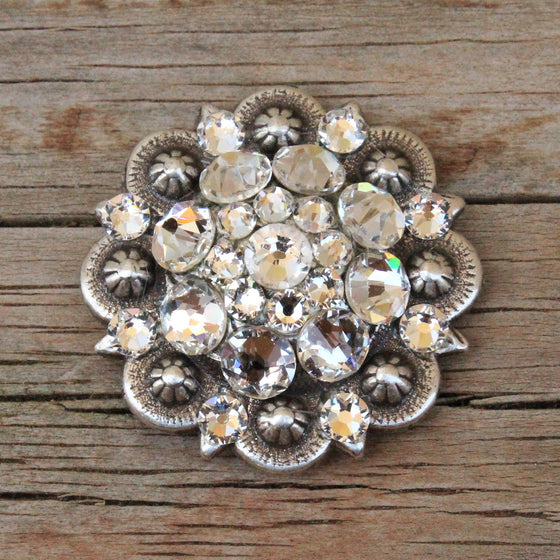 "Antique Silver-Med (1.50"") Conchos"