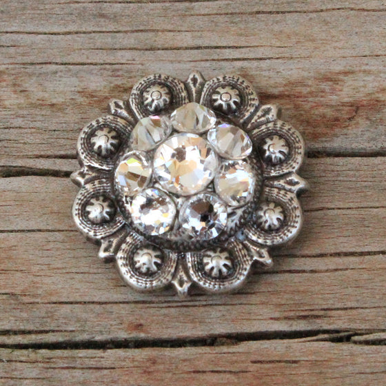 "Antique Silver-XSmall (1"") Conchos"