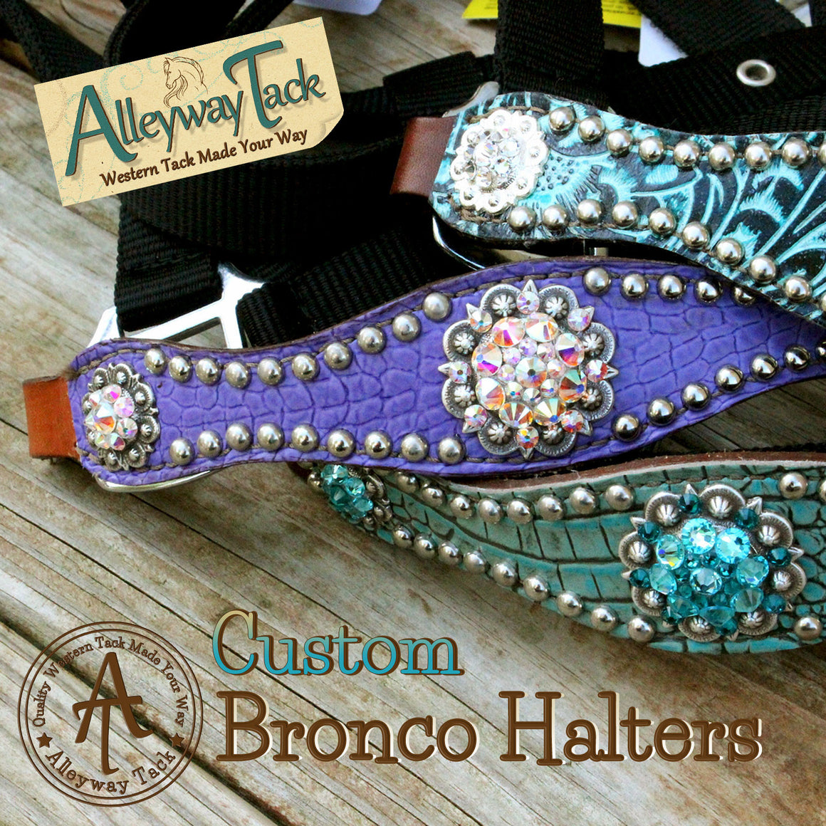 Custom Bronco Halter