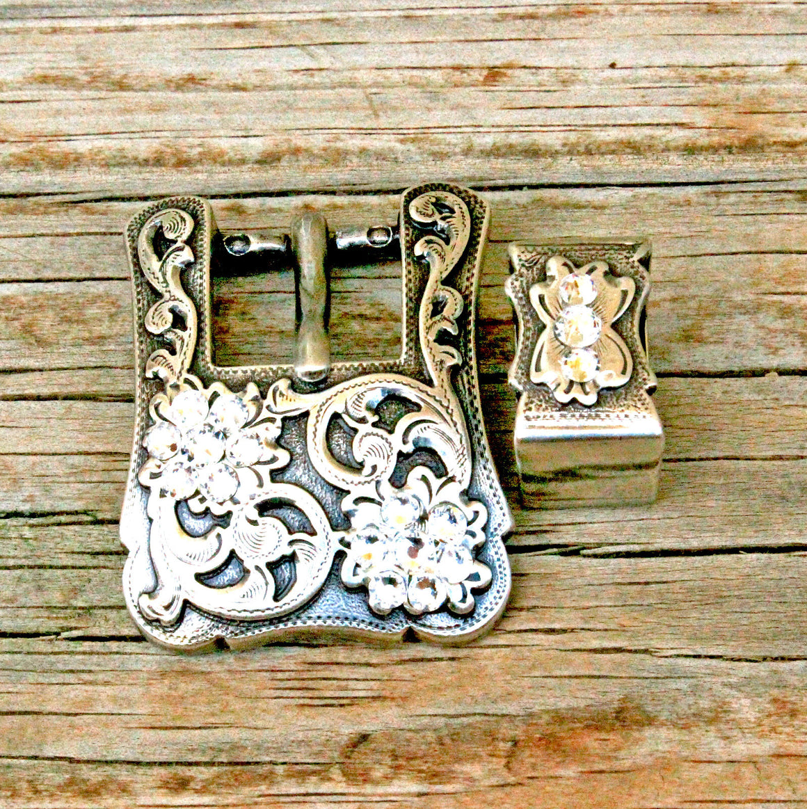 Antique Silver-Square Buckles
