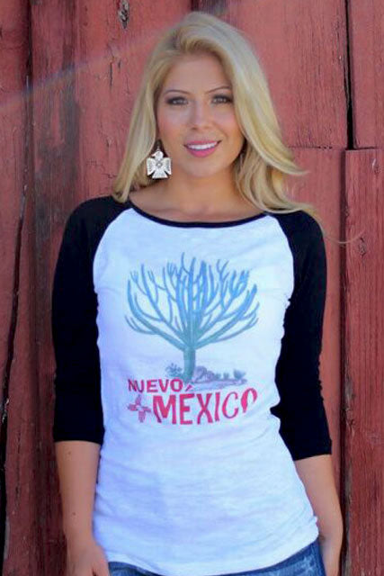 New Mexico Cactus Baseball Tee