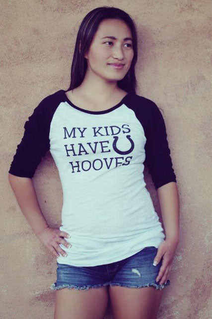 All My Kids Have Horse Hooves Baseball Tee