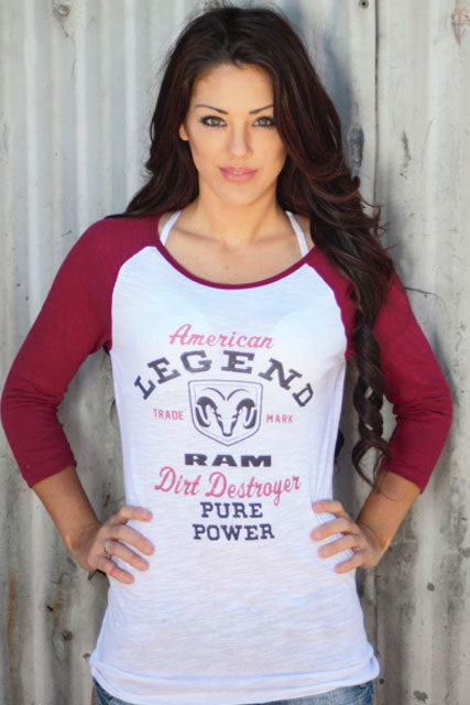 American Legend Dirt Destroyer RAM TRUCK Baseball Tee