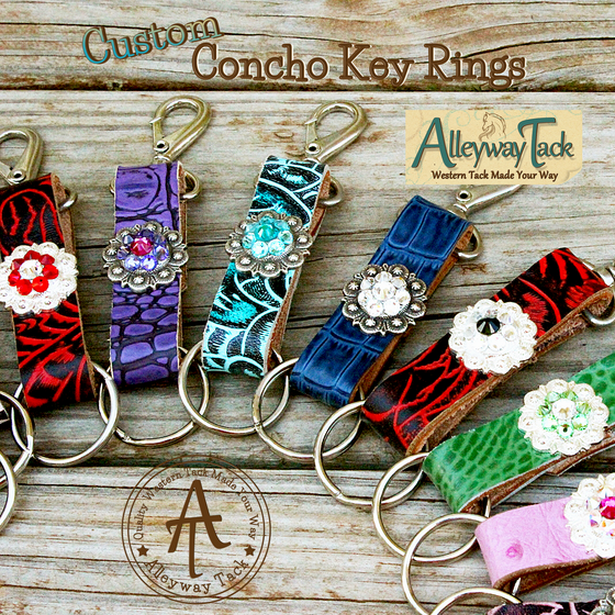 Custom Concho Key Ring