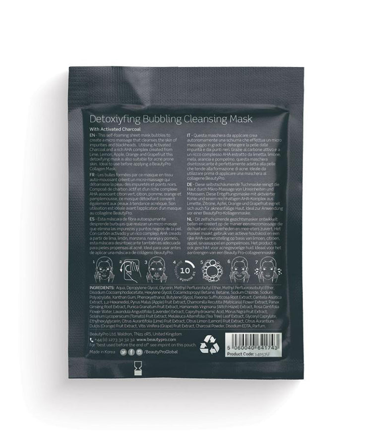 Beauty Pro Detoxifying bubbling cleansing mask