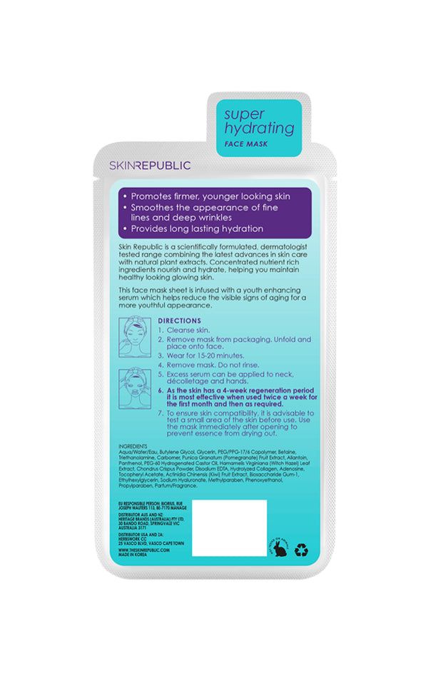 Skin Republic Hyaluronic Acid + Collagen Sheet Mask