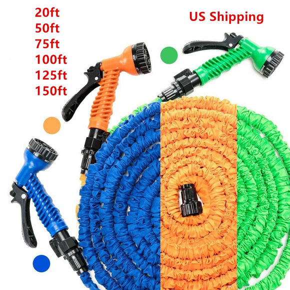 25FT-150FT Garden Hose Expandable Flexible Water Hose