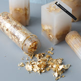 2 bottle Candle Gold Foil