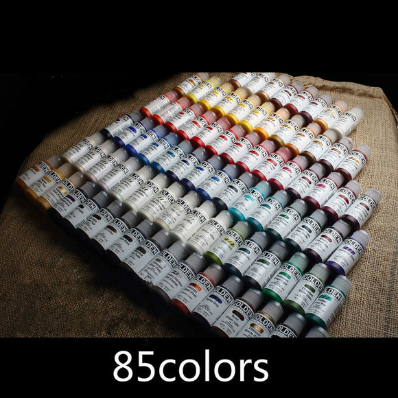 30ml /bottle Fluid acrylic paint, Metallic color, interference color shoes change color