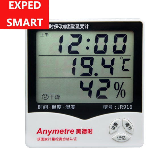 Indoor LCD MIN Clock Temperature Humidity meter Thermometer Digital LCD thermo hygrometer