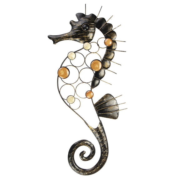Large Metal Craft Seahorse Hanging Wall Art