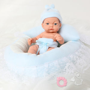 26CM full body silicone bebe Reborn Dolls 10inch waterproof Boneca bath Realistic premie newborn baby Doll for toys girl gift
