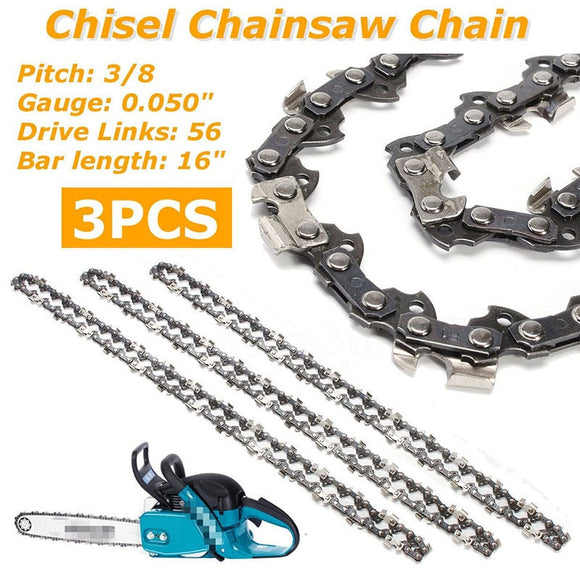 3* 16 Semi Chisel Chainsaw Chain for makita