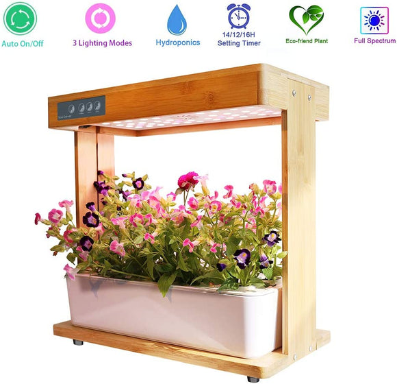 Hydroponics System with grow light pump