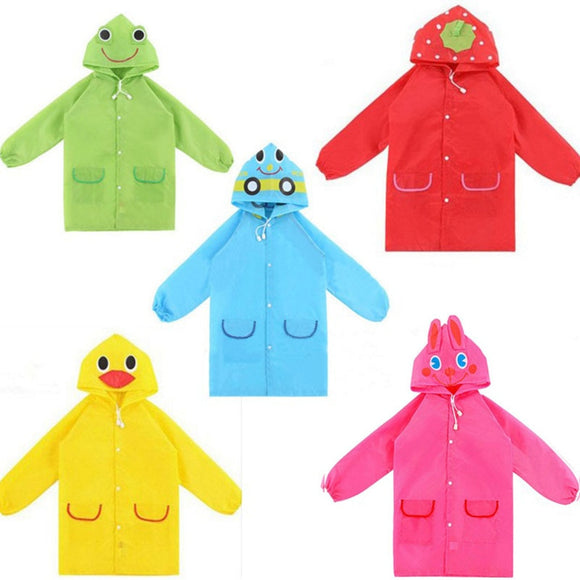 1pcs Cartoon Animal Style Waterproof Kids Raincoat