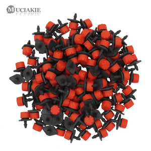 500-10PCS Adjustable Irrigation Misting Micro Flow Dripper Drip Head 1/4''