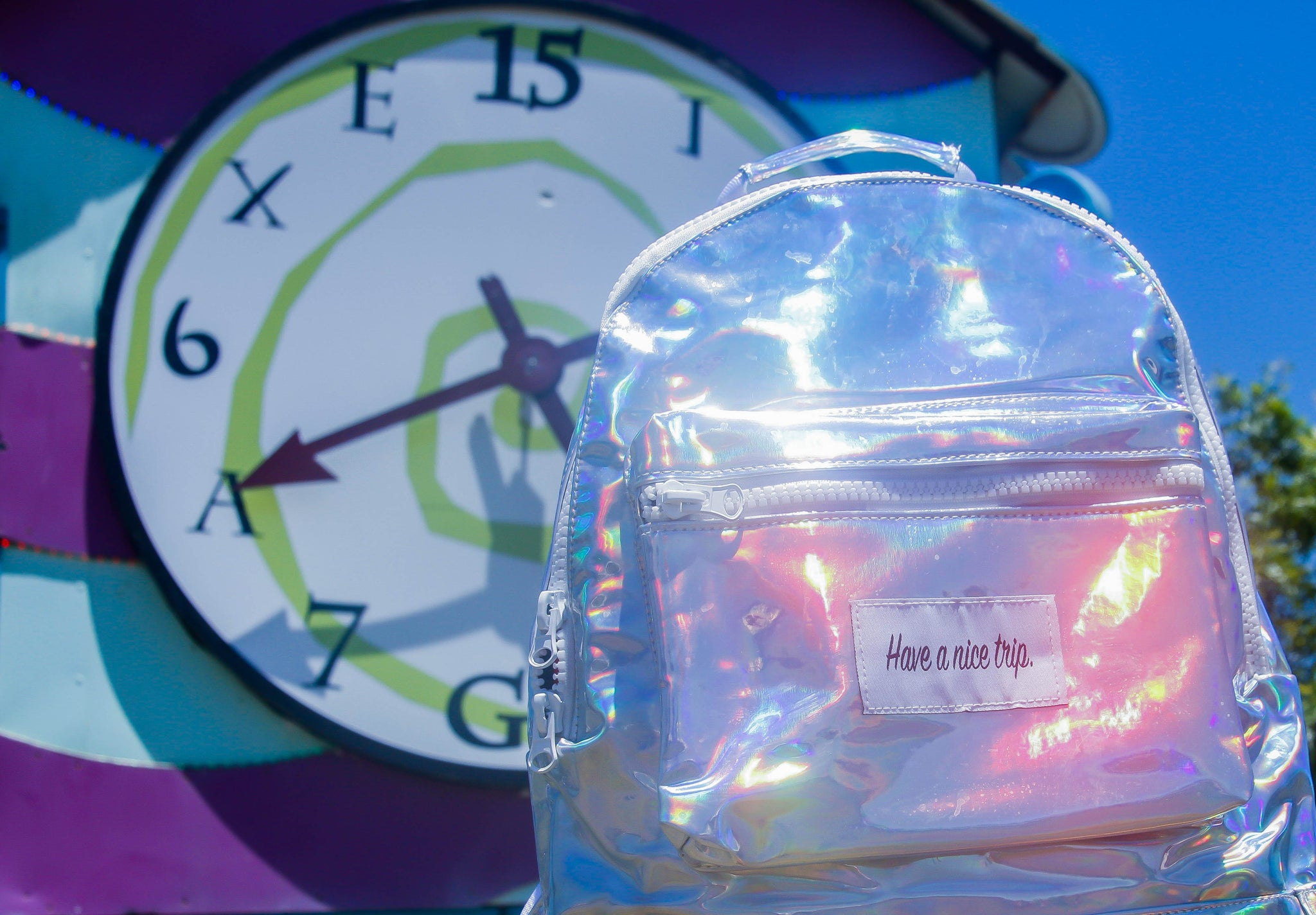 Festy Besty Time Traveler Holographic Backpack at Bonnaroo 2016