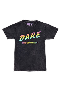 Festy Besty Dare To Be Different T-Shirt Black Acid Wash