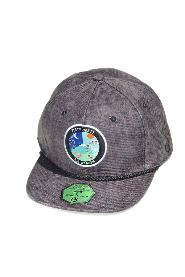Festy Besty X Grassroots California Festy Life Hat Acid Wash Black