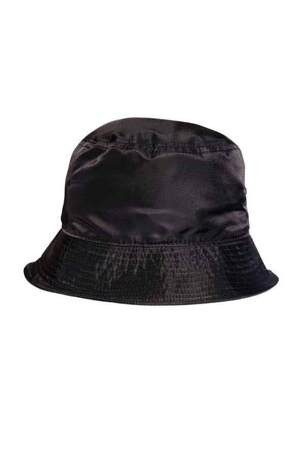Black Nylon Bucket Hat