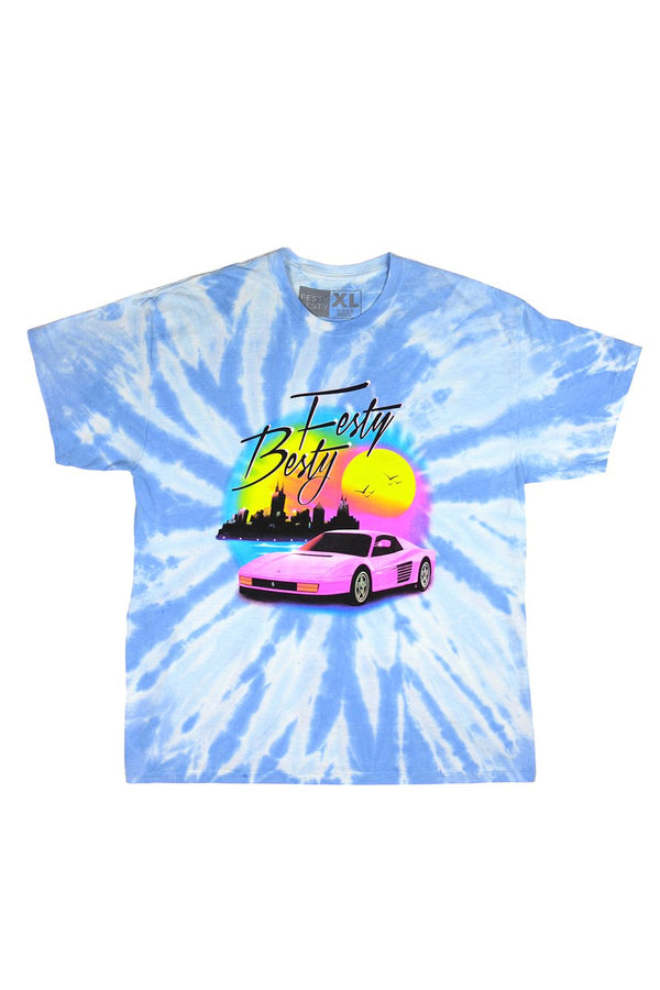 Festy Besty - CyberDrive Tie-Dye T-Shirt | Chicago
