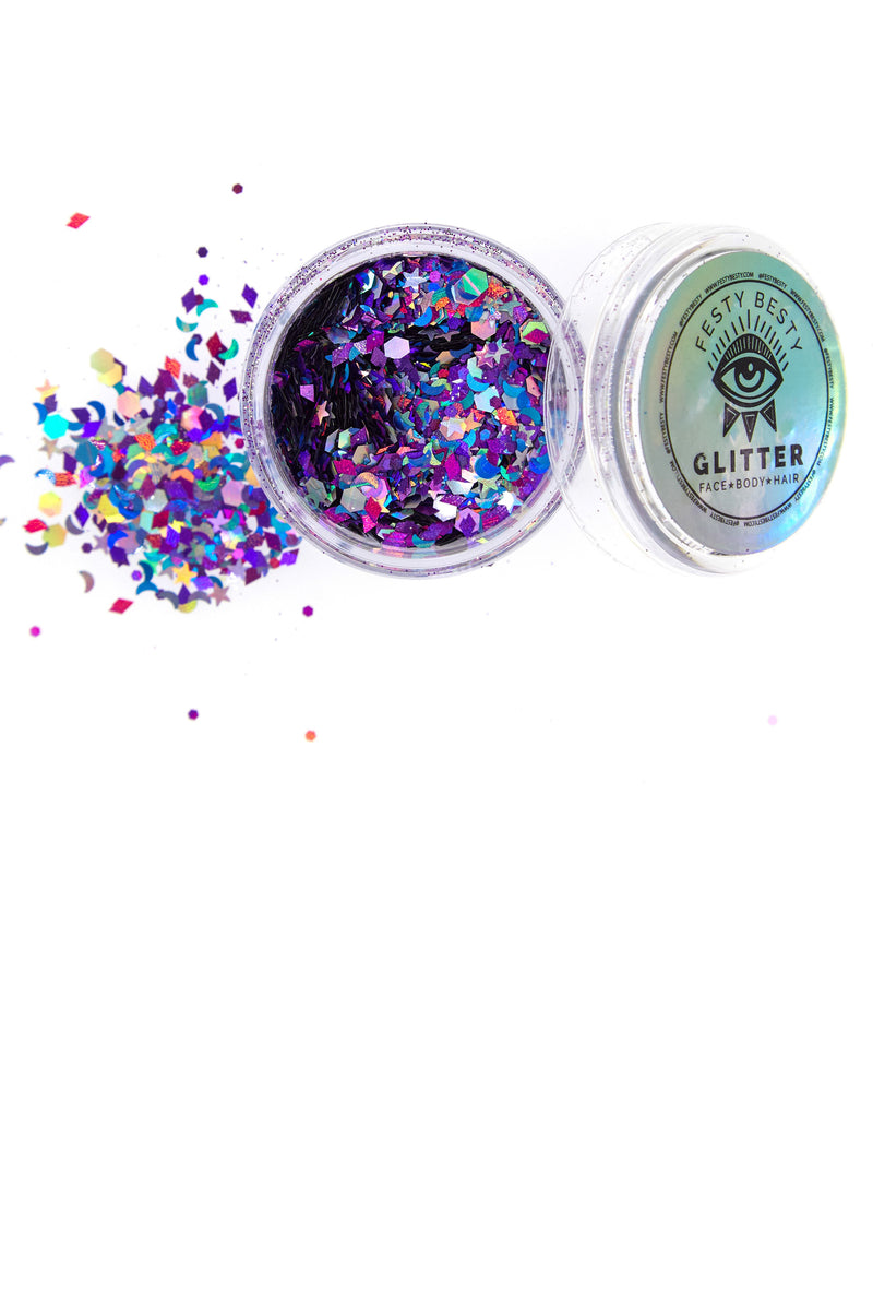 Festy Besty Galactic Holographic Festival Glitter