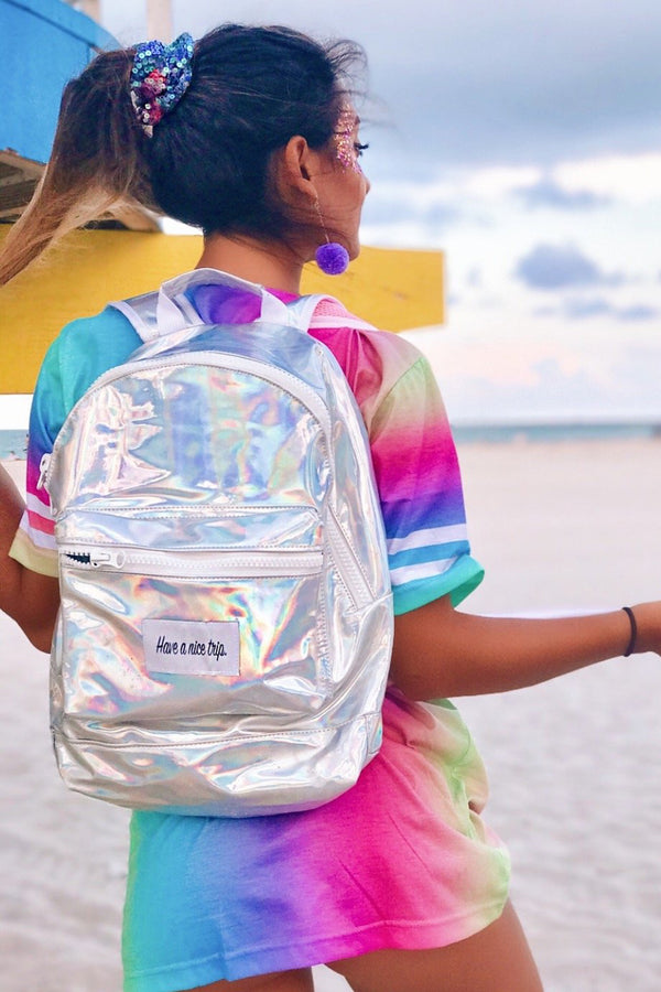 Festy Besty Time Traveler Backpack (Chromedelic) | Pamela Seco @pamelaasecoo