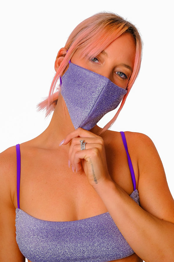 Dreamy Vivid Purple Face Mask