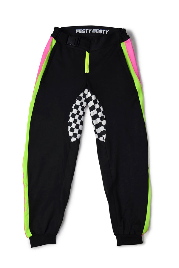 Festy Besty Motosport[001] Jogger Black/Neon Pink/Neon Green/Checkered