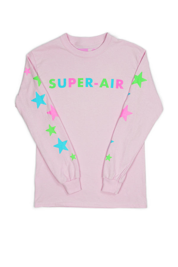 Festy Besty Super-Air Glow In The Dark Stars Long sleeve (Pink)