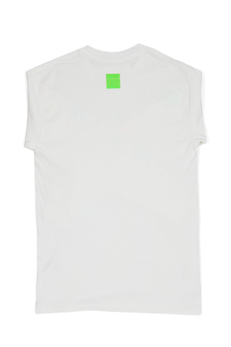 FESTY BESTY | Super-Air Glow White Long Sleeve T-Shirt (Glow In The Dark)