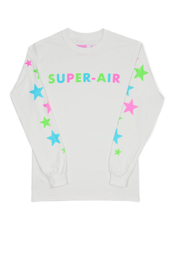 Super-Air Glow White Long Sleeve T-Shirt