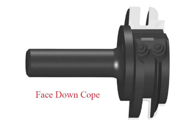 SE-ICSOFD - Ogee Cope (Stile) Profile Insert, Face Down