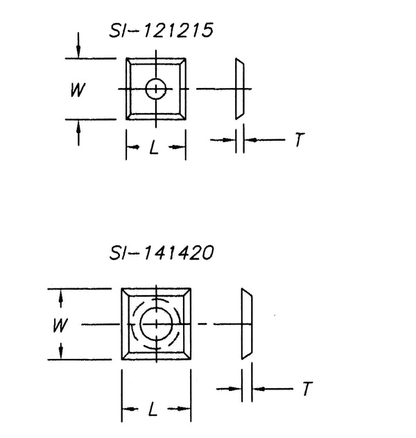 SI-1951015 - Insert 19.5 x 10.0 x 1.5,  4 sided ,1 hole (pk 10